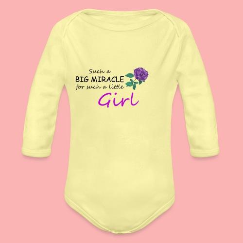 Big Miracle - Organic Long Sleeve Baby Bodysuit