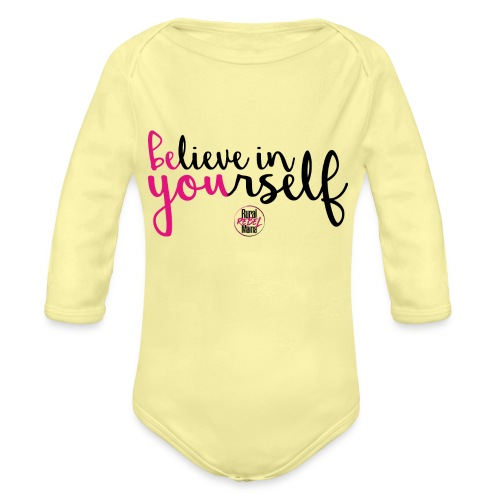 BE YOU shirt design w logo - Organic Long Sleeve Baby Bodysuit