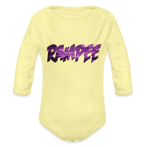 Purple Cloud Rampee - Organic Long Sleeve Baby Bodysuit