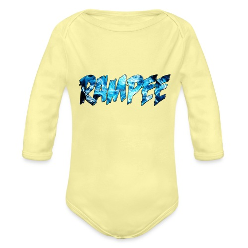 Blue Ice - Organic Long Sleeve Baby Bodysuit
