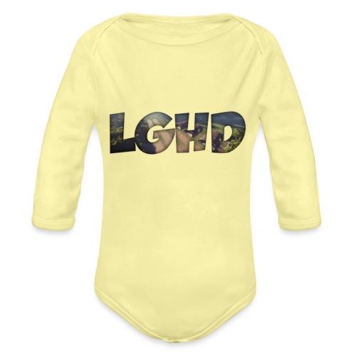 LGHD Rust Name png - Organic Long Sleeve Baby Bodysuit