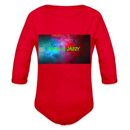 NYAH AND JAZZY - Organic Long Sleeve Baby Bodysuit