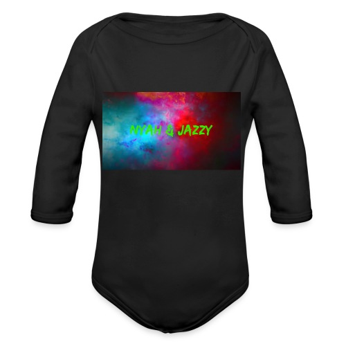 NYAH AND JAZZY - Organic Long Sleeve Baby Bodysuit