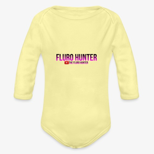 The Fluro Hunter Black And Purple Gradient - Organic Long Sleeve Baby Bodysuit