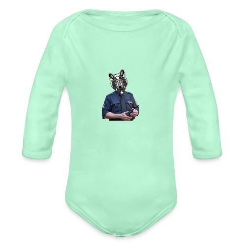 wolf police - Organic Long Sleeve Baby Bodysuit