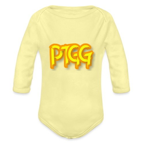 Ptolome The Greek God Logo - Organic Long Sleeve Baby Bodysuit