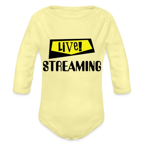 Live Streaming - Organic Long Sleeve Baby Bodysuit