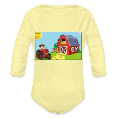 cornerbarntrans - Organic Long Sleeve Baby Bodysuit
