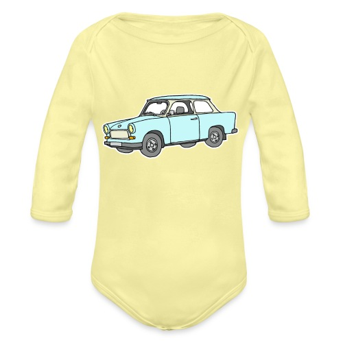 Trabant (lightblue) - Organic Long Sleeve Baby Bodysuit
