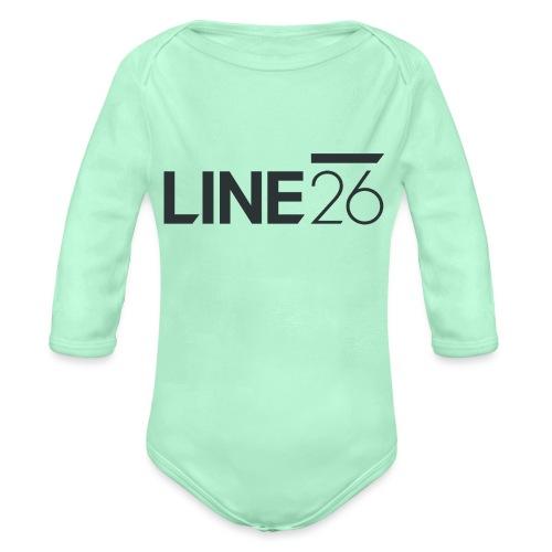 Line26 Logo (Dark Version) - Organic Long Sleeve Baby Bodysuit