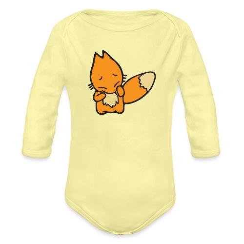 Scaredy Fox - Organic Long Sleeve Baby Bodysuit