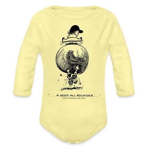 PonyGalopp Thelwell Cartoon - Organic Long Sleeve Baby Bodysuit