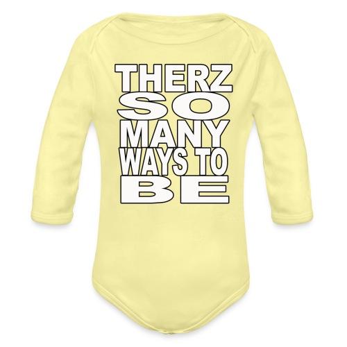 Therz white shirt png - Organic Long Sleeve Baby Bodysuit