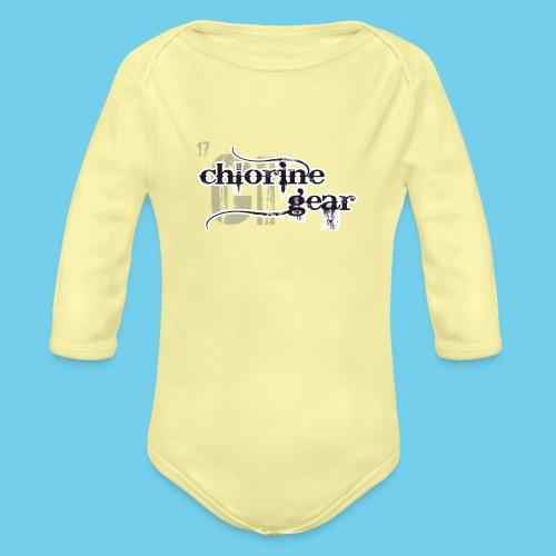 Chlorine Gear Textual B W - Organic Long Sleeve Baby Bodysuit