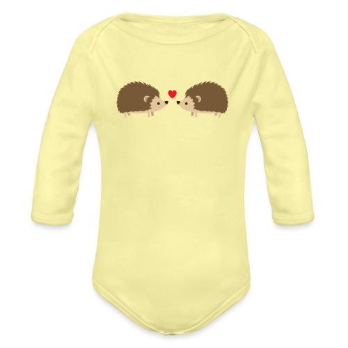 Hedgehog Lovers - Organic Long Sleeve Baby Bodysuit