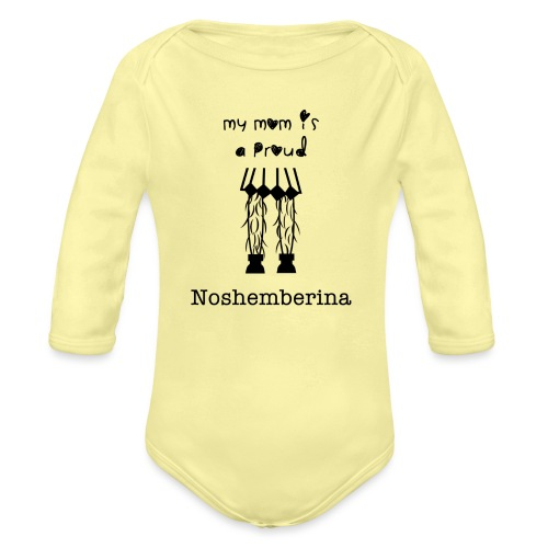 noshemberinas mom - Organic Long Sleeve Baby Bodysuit
