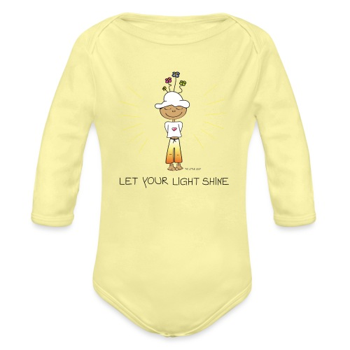 Let your light shine - Organic Long Sleeve Baby Bodysuit