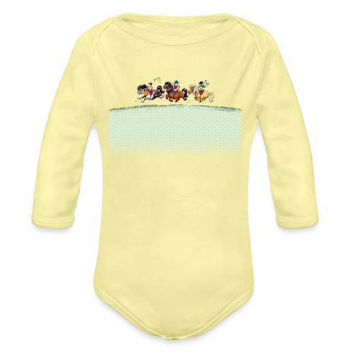 Three Jockeys Thelwell - Organic Long Sleeve Baby Bodysuit