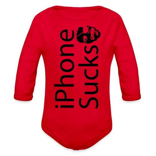 iPhone Sucks - Organic Long Sleeve Baby Bodysuit
