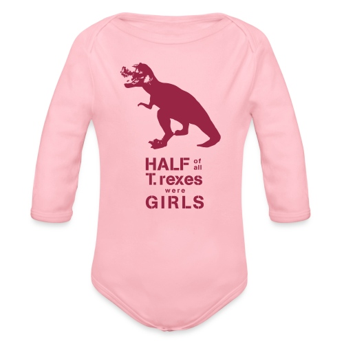 Tyrannosaurus Rex - Organic Long Sleeve Baby Bodysuit