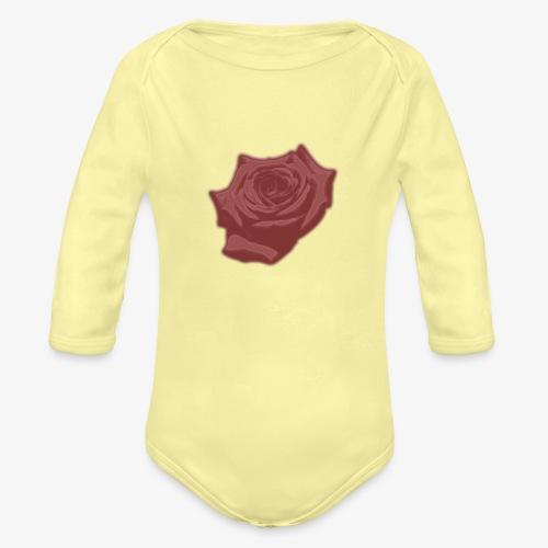 Down Rose Modern - Organic Long Sleeve Baby Bodysuit