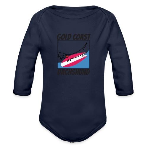 Gold Coast Dachshund - Organic Long Sleeve Baby Bodysuit