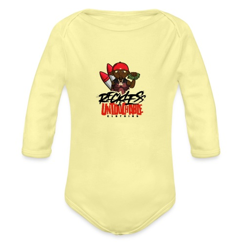Reckless and Untouchable_1 - Organic Long Sleeve Baby Bodysuit