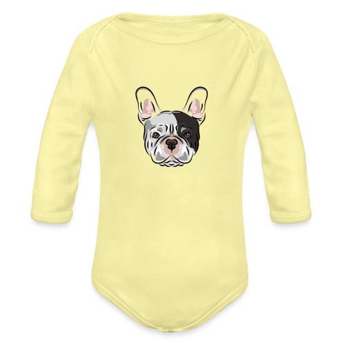 pngtree french bulldog dog cute pet - Organic Long Sleeve Baby Bodysuit