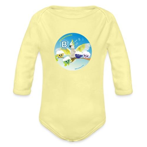 The Babyccinos Alphabet The Letter B - Organic Long Sleeve Baby Bodysuit