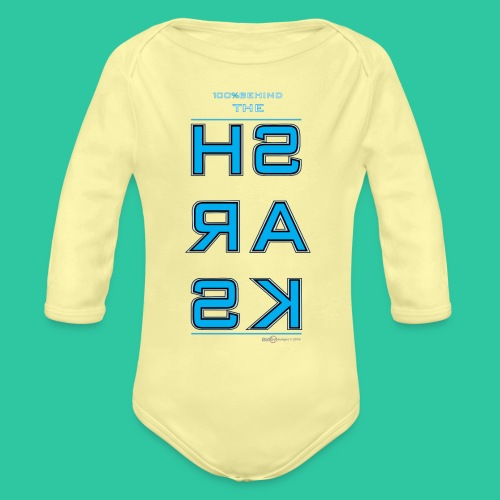 Sharks - Organic Long Sleeve Baby Bodysuit