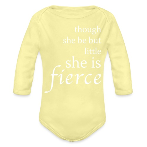 She Is Fierce - Organic Long Sleeve Baby Bodysuit
