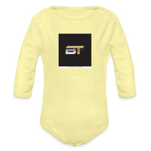 BT logo golden - Organic Long Sleeve Baby Bodysuit