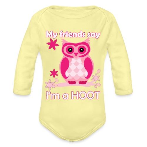 HOOT - Organic Long Sleeve Baby Bodysuit