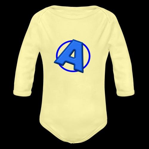 Awesomegamer Logo - Organic Long Sleeve Baby Bodysuit