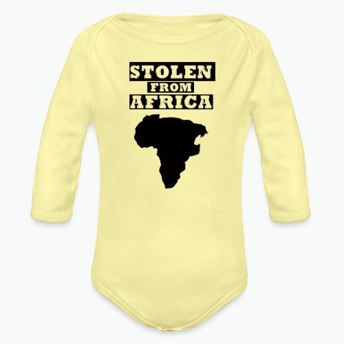STOLEN FROM AFRICA LOGO - Organic Long Sleeve Baby Bodysuit
