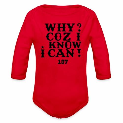 Kids and Babies Positive Affirmation Logo 187 Gear - Organic Long Sleeve Baby Bodysuit