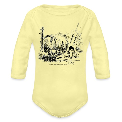 PonyFail Thelwell Cartoon - Organic Long Sleeve Baby Bodysuit