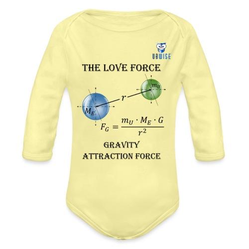 Newton Gravity MuMeG with UBWise logo - Organic Long Sleeve Baby Bodysuit
