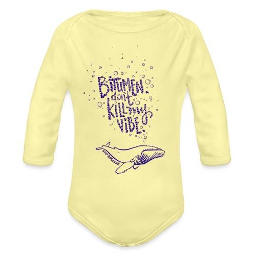 bitumen don't kill my vibe - navy - Organic Long Sleeve Baby Bodysuit