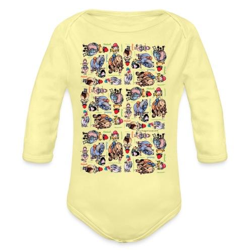 PonyCartoons Thelwell Cartoon - Organic Long Sleeve Baby Bodysuit