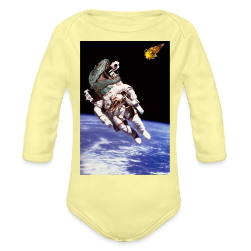 how dinos died - Organic Long Sleeve Baby Bodysuit