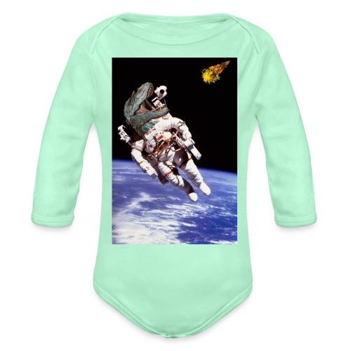 how dinos died - Organic Long Sleeve Baby Bodysuit