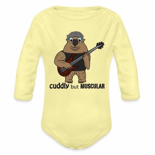 wombatblack - Organic Long Sleeve Baby Bodysuit