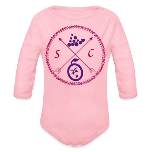 Sour Grapes Crest - Organic Long Sleeve Baby Bodysuit