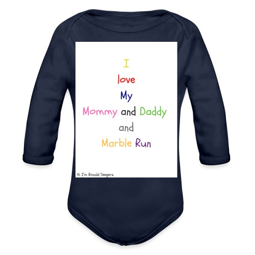 Hi I'm Ronald Seegers Collection-What I love - Organic Long Sleeve Baby Bodysuit