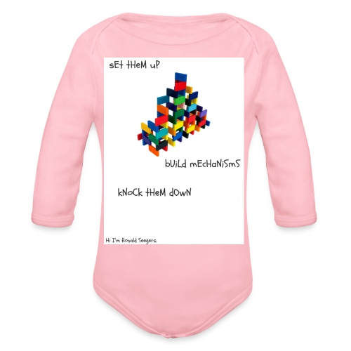 Hi I'm Ronald Seegers Collection-dominoes - Organic Long Sleeve Baby Bodysuit