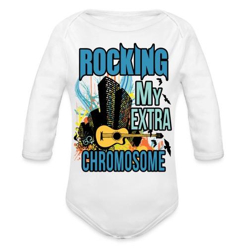 Rocking my extra chromosome - Organic Long Sleeve Baby Bodysuit