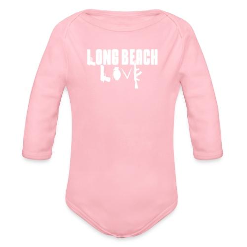 Long Beach Love - Organic Long Sleeve Baby Bodysuit