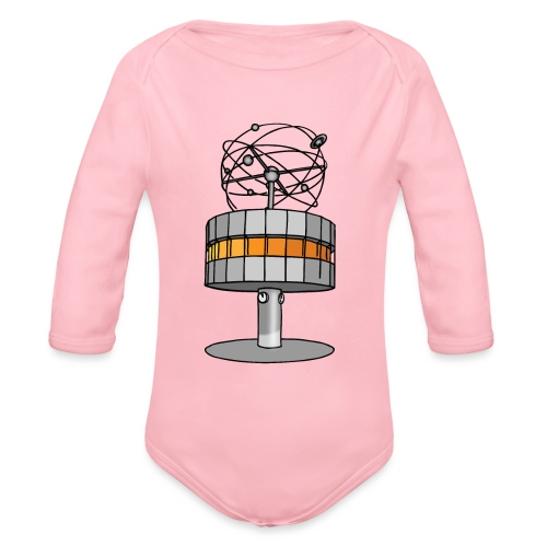 World time clock Berlin - Organic Long Sleeve Baby Bodysuit