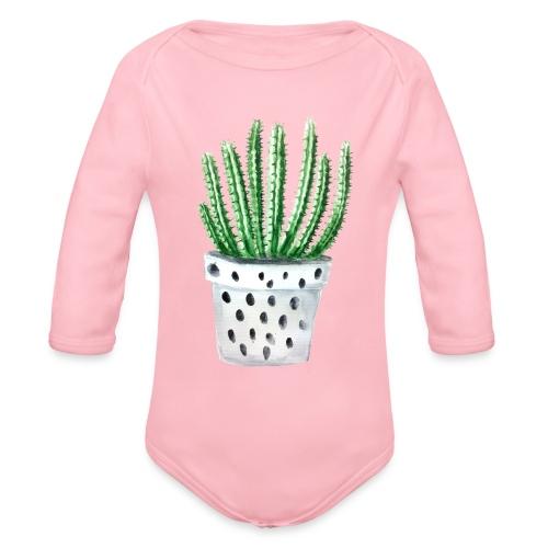Cactus - Organic Long Sleeve Baby Bodysuit